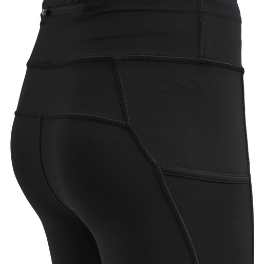 WOMEN HIGHWAIST PERFORMANCE TIGHTS, BLACK, packshot