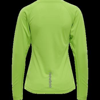 WOMEN CORE RUNNING T-SHIRT L/S, GREEN FLASH, packshot