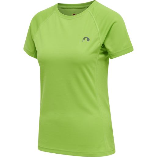 WOMEN CORE RUNNING T-SHIRT S/S, GREEN FLASH, packshot