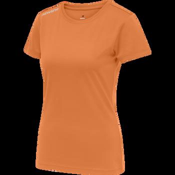 WOMEN CORE FUNCTIONAL T-SHIRT S/S, ORANGE TIGER, packshot