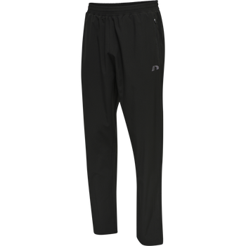 MEN RUNNING PANTS, BLACK, packshot