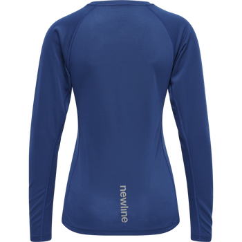 WOMEN CORE RUNNING T-SHIRT L/S, TRUE BLUE, packshot
