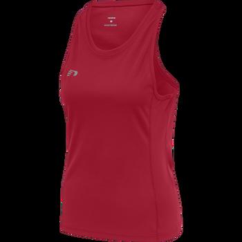 WOMEN CORE RUNNING SINGLET, TANGO RED, packshot