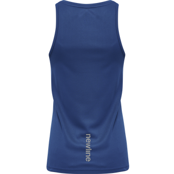 WOMEN CORE RUNNING SINGLET, TRUE BLUE, packshot