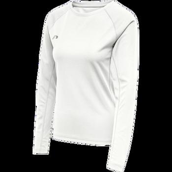 WOMEN CORE RUNNING T-SHIRT L/S, WHITE, packshot
